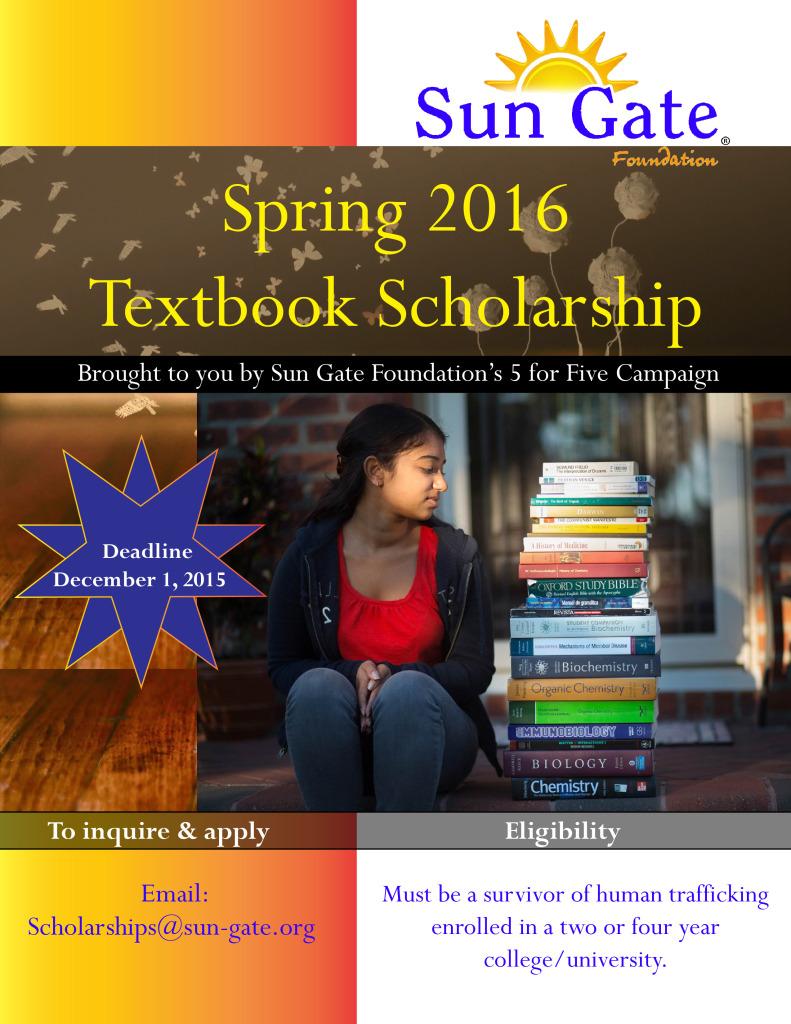 Textbook Scholarship Spring 2016