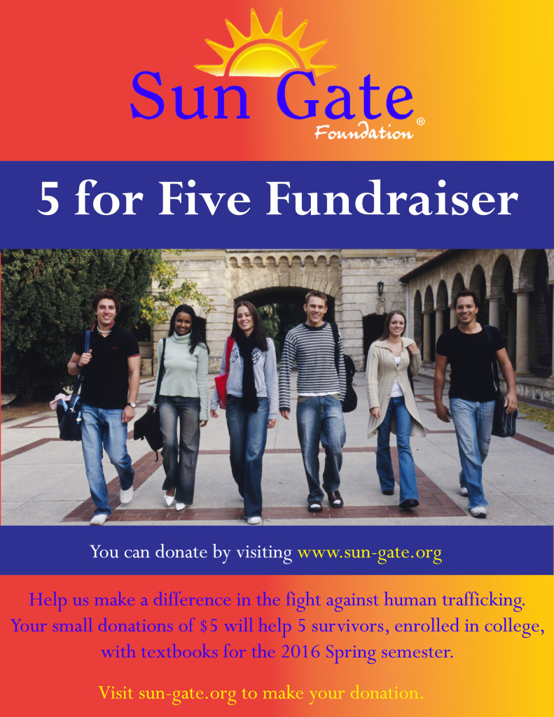 5 for Five Fundraiser - Spring 2016